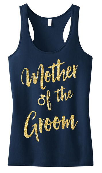 Mother of the Groom Script Tank Top with Gold