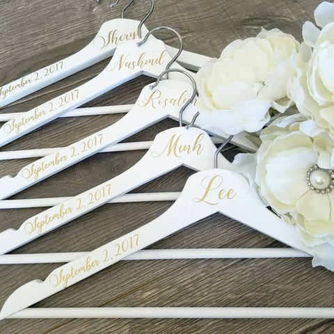 Personalize Wedding Hangers, Bridesmaid hangers,