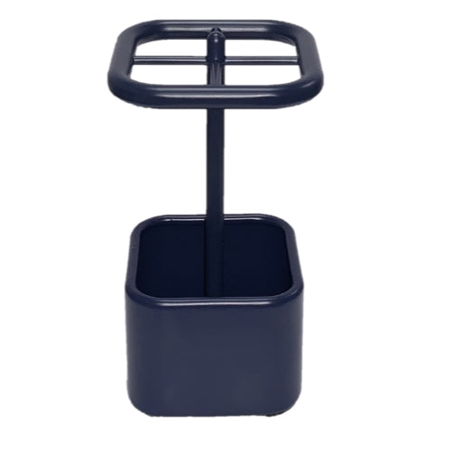 InterDesign Gia Toothbrush Holder Stand for Bathroom Vanity Countertops - Navy
