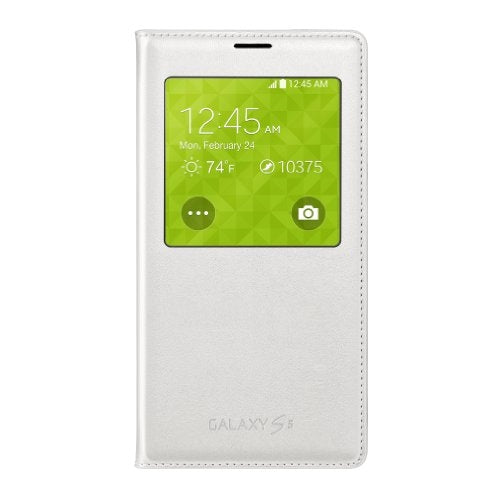 Samsung Galaxy S5 Case S View Flip Cover Folio, White (Bulk Packaging)