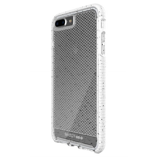 Tech21 Evo Check Active Edition Protection Case for iPhone 7/8 Plus Clear/White with Black Spots