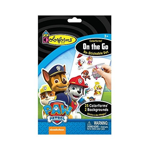 Colorforms On-The-Go Re-Stickable Sticker Set Paw Patrol