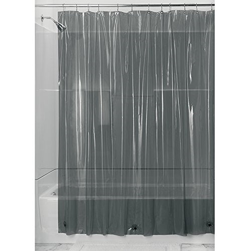 InterDesign Vinyl 4.8 Gauge Shower Liner, Stall 54 x 78, Smoke