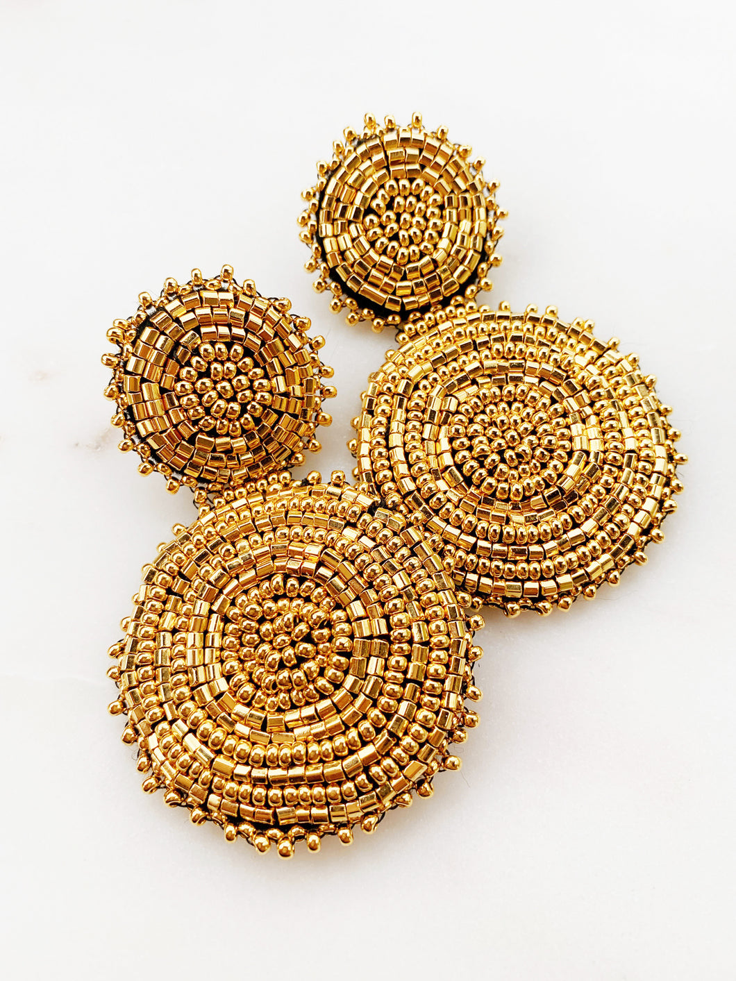 Radiant Gold Statement Earrings