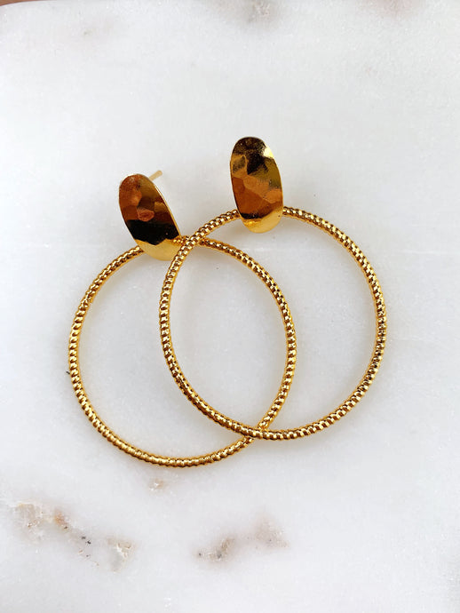 Halo Golden Statement Earrings