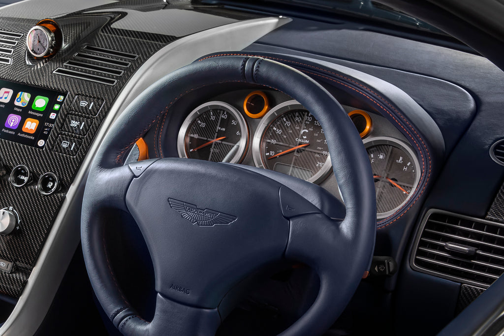 Instrument cluster in the Aston Martin Vanquish 25