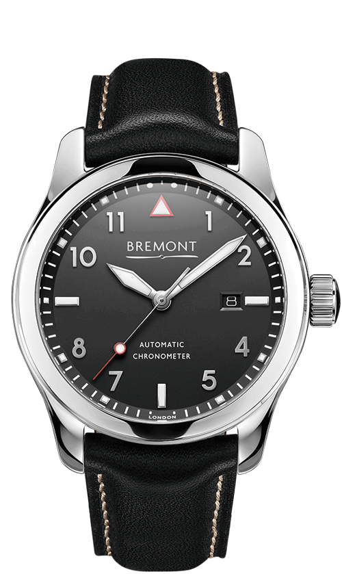 Bremont-SOLO-Polished-Black-Front