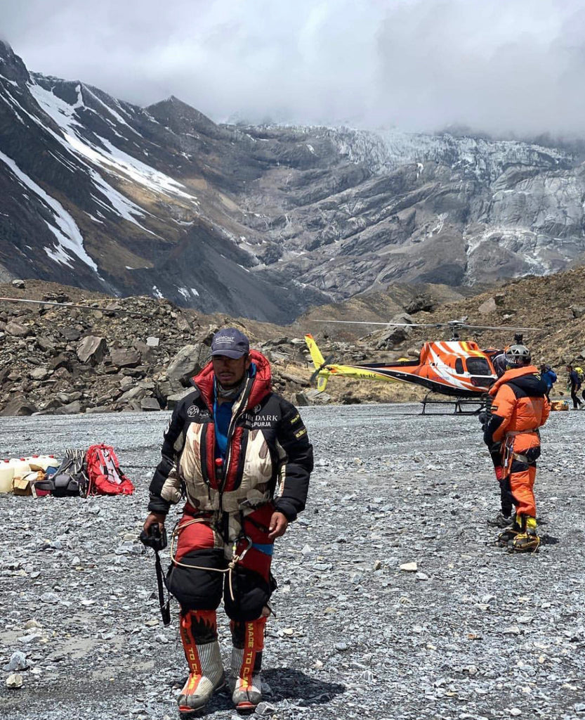 Nims during his rescue on Mt. Annapurna