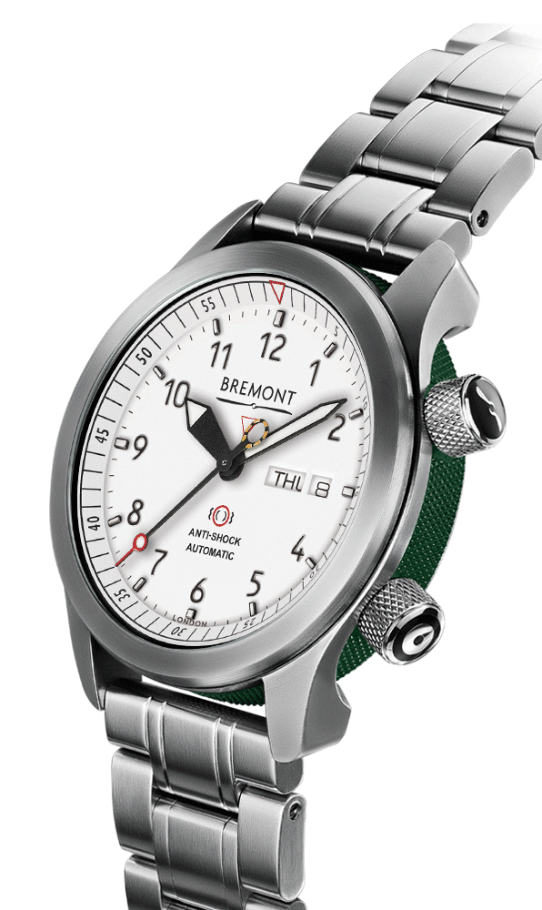 Bremont-MBII-WH-GN Side NBG-website