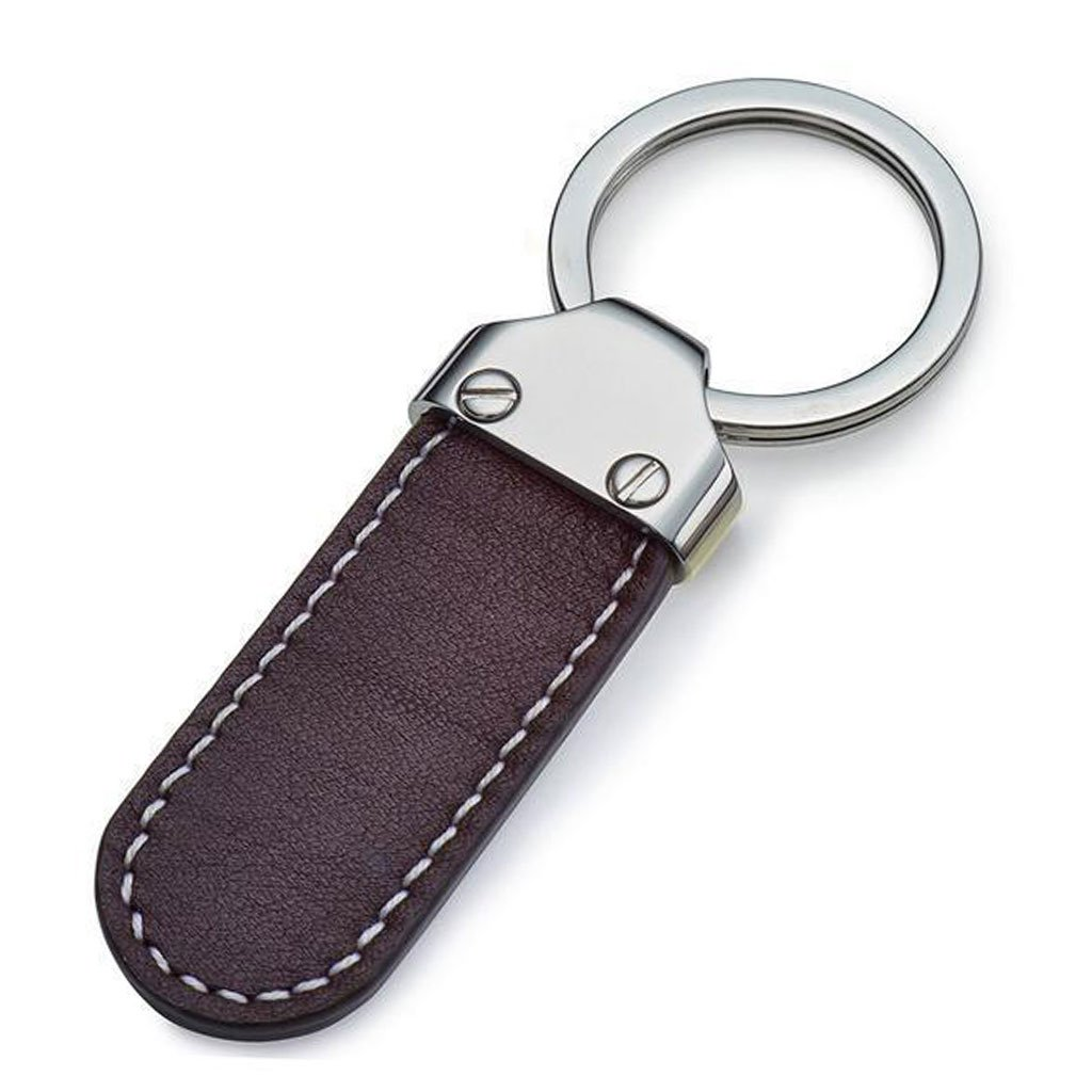 Bremont-Whittle Leather Key Fob-Brown-2