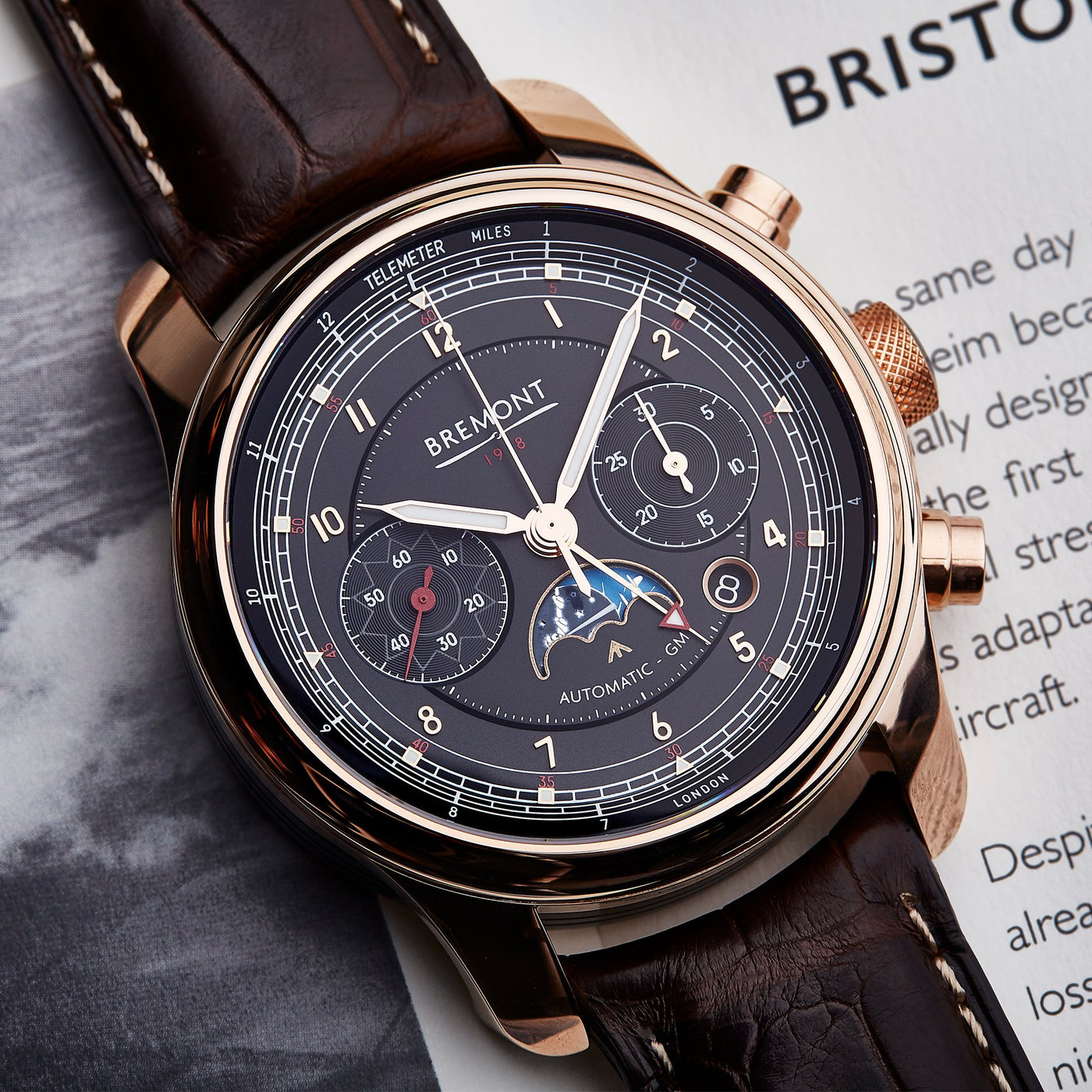 Bremont 1918 Rose Gold 1