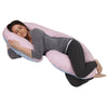The C Body Pillow Cotton Pink and Blue Flipped