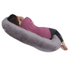 The C Body Pillow Gray Velour Back