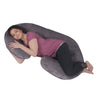The C Body Pillow Gray Velour Main