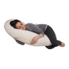 The C Body Pillow Ivory Velour Flipped