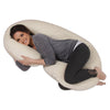 The C Body Pillow Ivory Velour Main