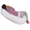 The C Body Pillow Cotton White Back