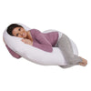 The C Body Pillow Cotton White Main