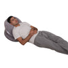The C Body Pillow Gray Velour Lounging