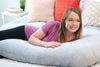 Lounge Town The U Body Pillow Heather Gray