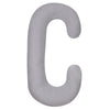 Heather Gray C Shaped Body Pillow Product Only