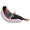 The U Body Pillow Cotton Pink and Blue Lounging