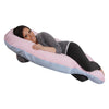 The U Body Pillow Cotton Pink and Blue Main