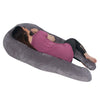 The U Body Pillow Gray Velour Back