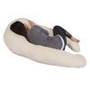 The U Body Pillow Ivory Velour Back