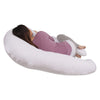 The U Body Pillow Cotton White Back