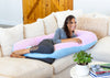 Lounge Town The U Body Pillow Pink and Blue