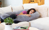 Lounge Town The U Body Pillow Gray Velour