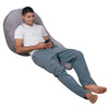 The U Body Pillow Gray Velour Lounging