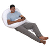 White Cotton U Shaped Body Pillow Lounge