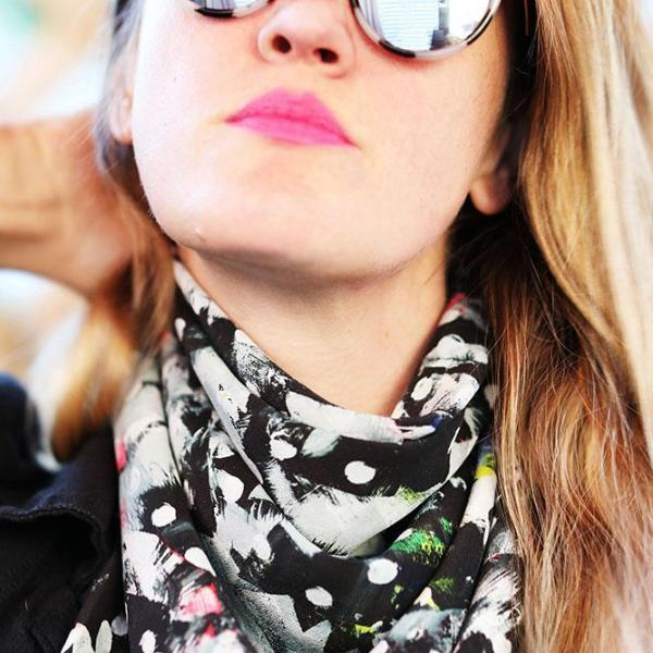 40 x 70 Inch Silk Scarf / Riot No. 1 by Kate Iverson