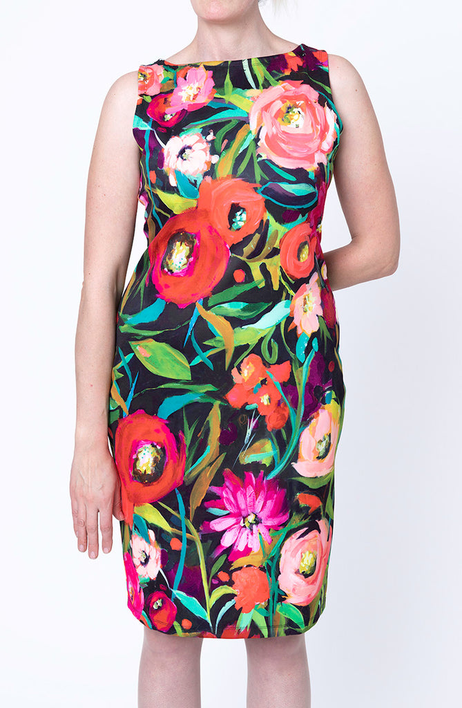 Sleeveless Sheath Dress / Flor de Otoño, Nina Ramos
