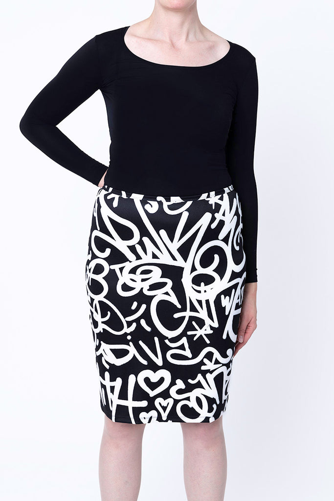 Pencil Skirt / Untitled, Lady Pink