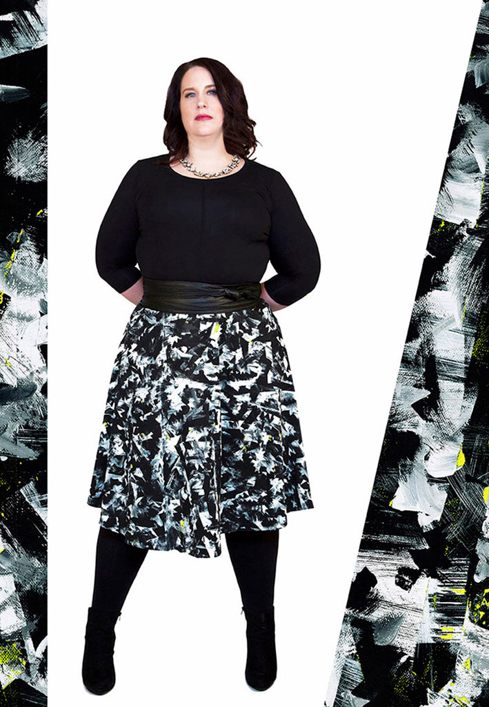 Midi Skirt / Riot No. 2 by Kate Iverson