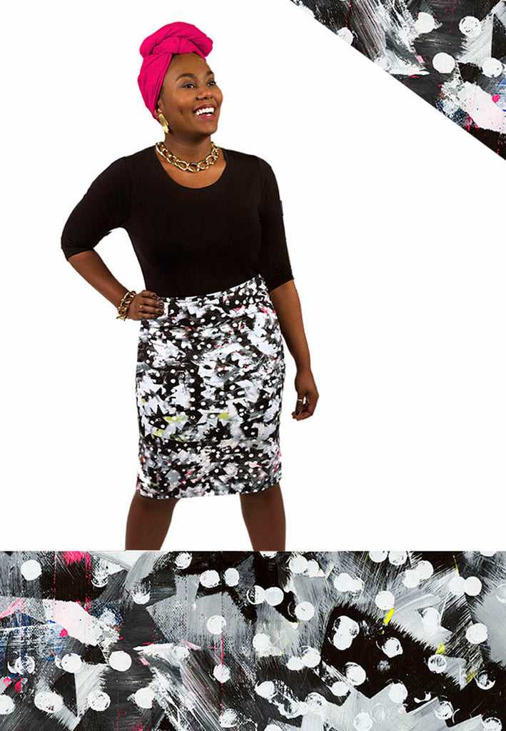 Pencil Skirt / Riot No. 1 by Kate Iverson