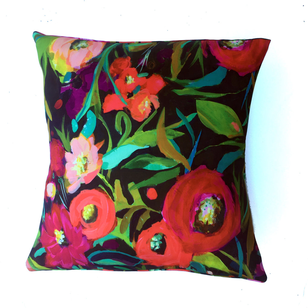 "Square pillow cover – 20"" / ""Flor de Otoño,"" 2019 – Nina Ramos"