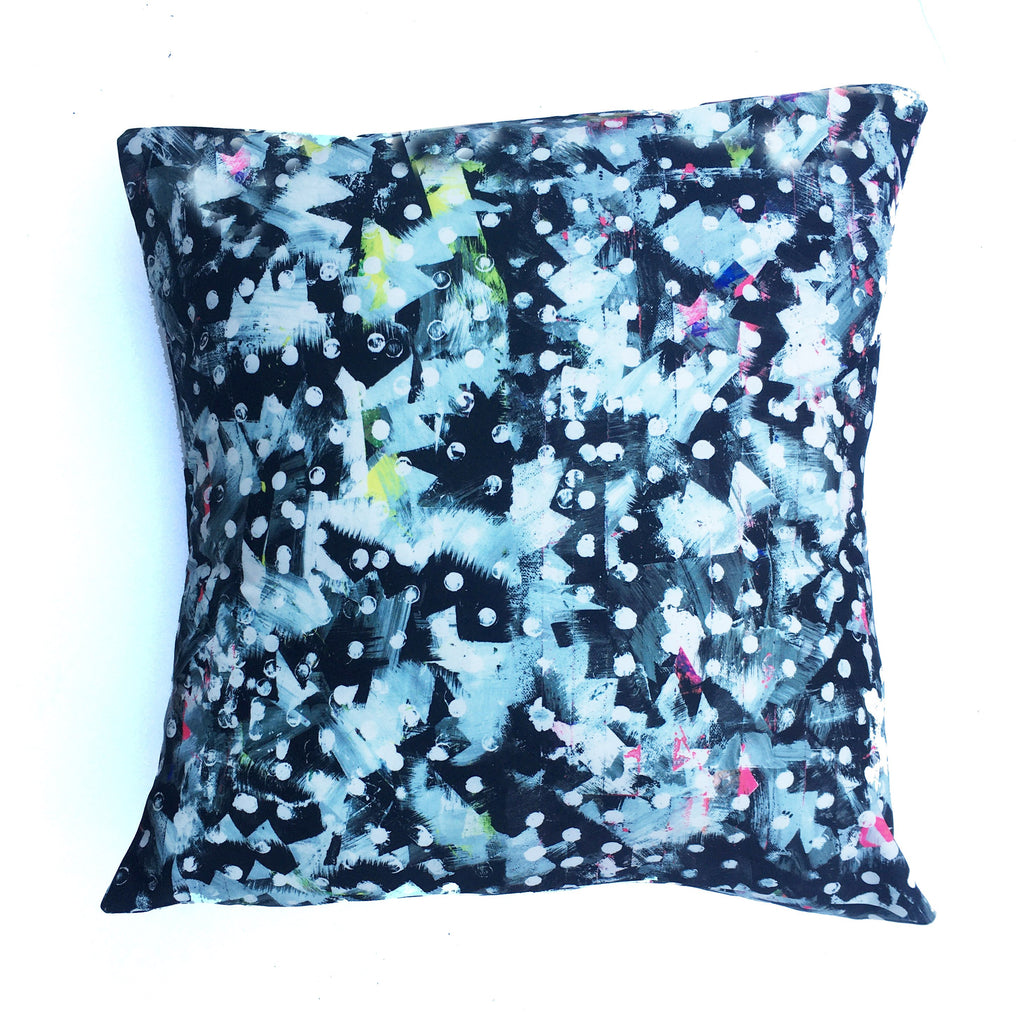 "Square pillow cover – 20"" / ""Riot No.1,"" 2015 – Kate Iverson"