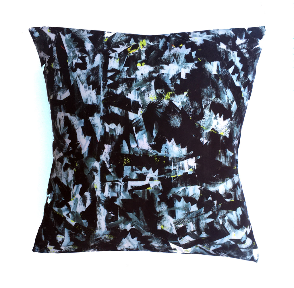 "Square pillow cover – 20"" / ""Riot No. 2,"" 2015 – Kate Iverson"