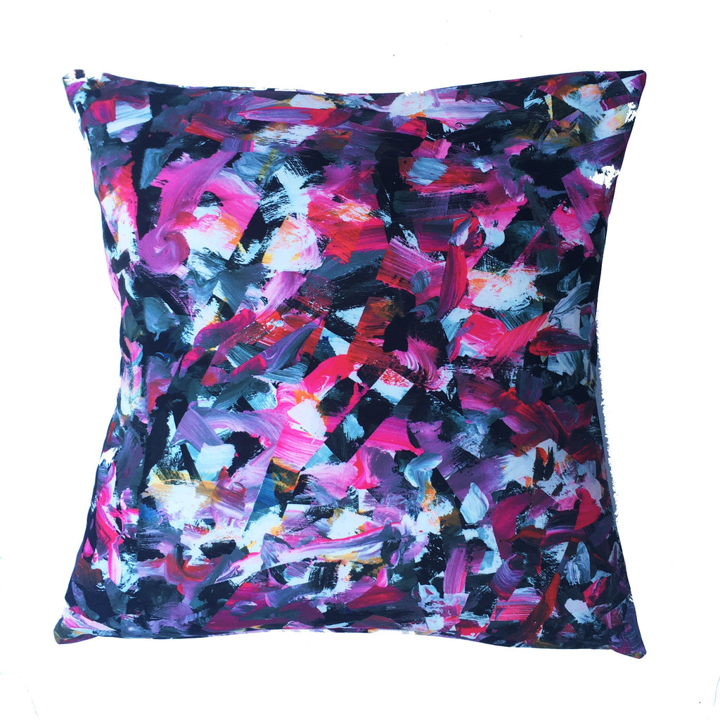 "Square pillow cover – 20"" / ""Riot No. 3,"" 2015 – Kate Iverson"