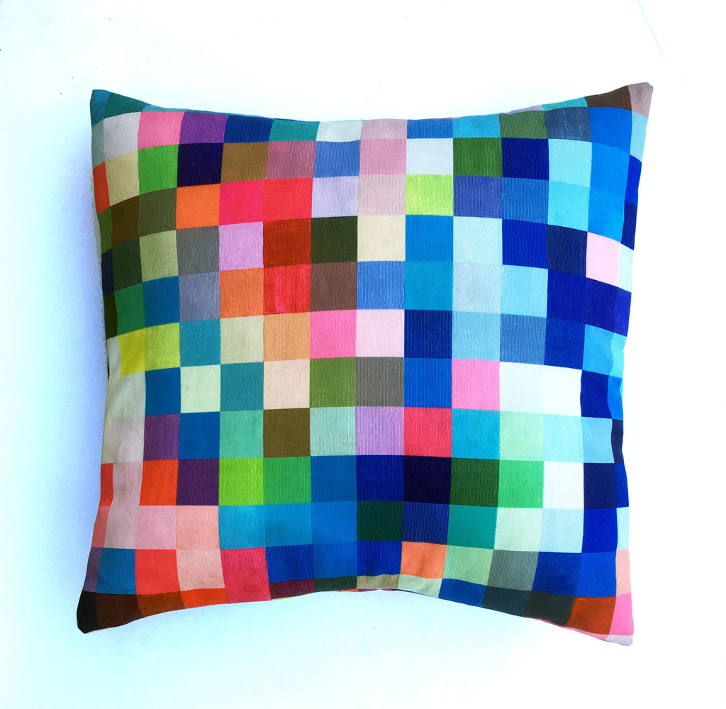 "Square pillow cover – 20"" / ""Sticks and Stones,"" 2019 – Stefanie Thiele"