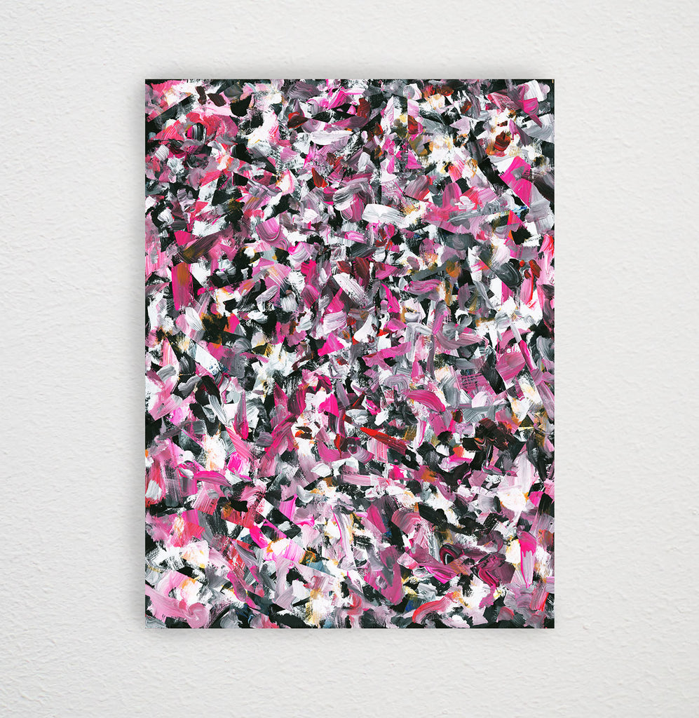 40 x 40 Inch Silk Scarf / Riot No. 3 by Kate Iverson