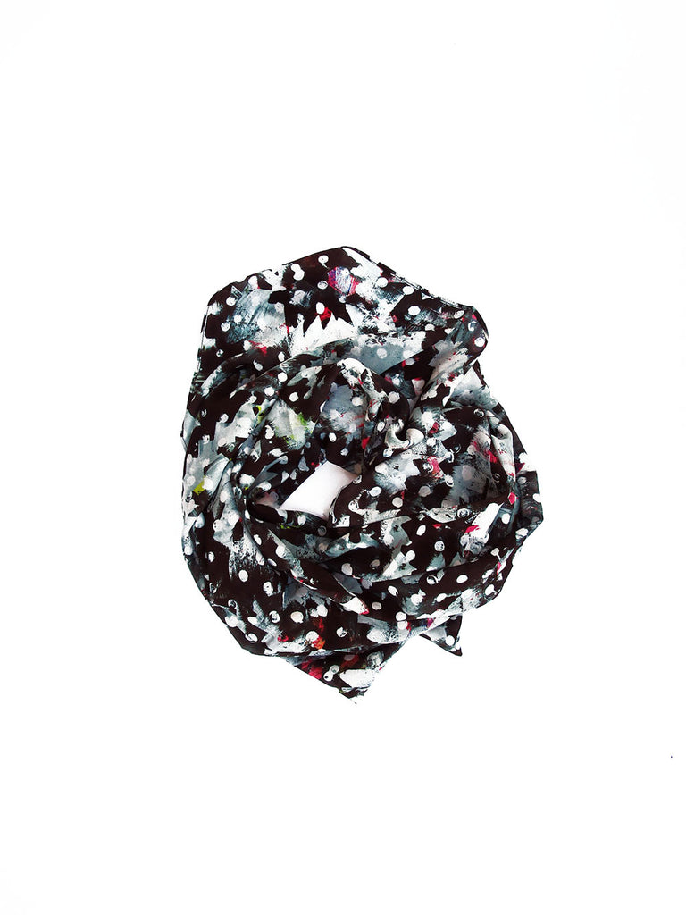 40 x 40 Inch Silk Scarf / Riot No. 1 by Kate Iverson