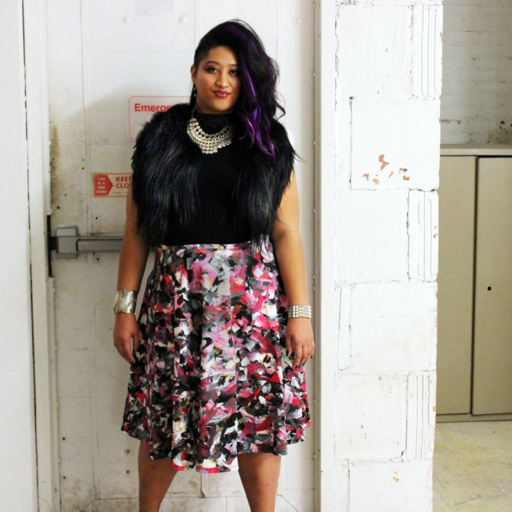 Midi Skirt / Riot No. 3 by Kate Iverson