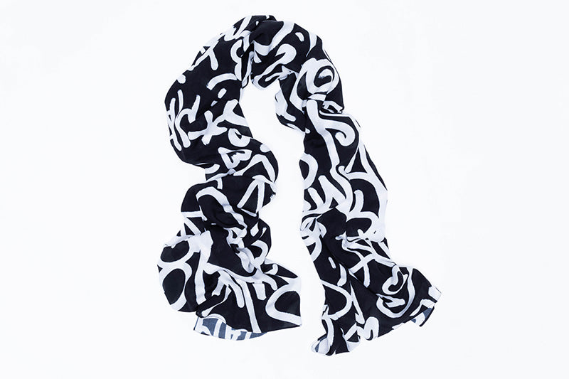 "Scarf, 40"" x 70"" / Untitled, Lady Pink"