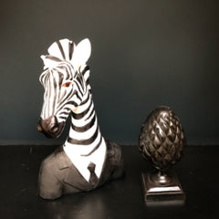 Zebra Sculpture in a Suit