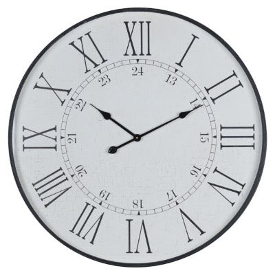Large Embossed Station Clock